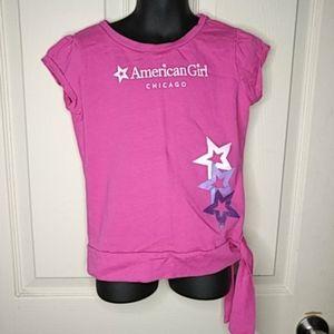 Girls American Girl Short Sleeve Top Side Tie 7/8